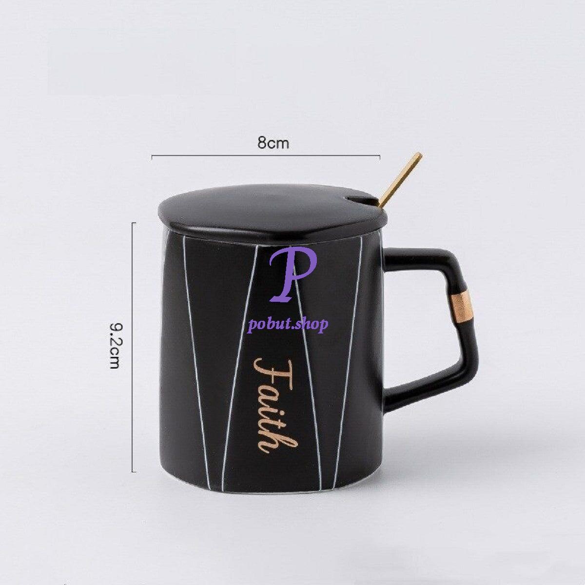Чашка керамічна Faith 350 мл, чорна