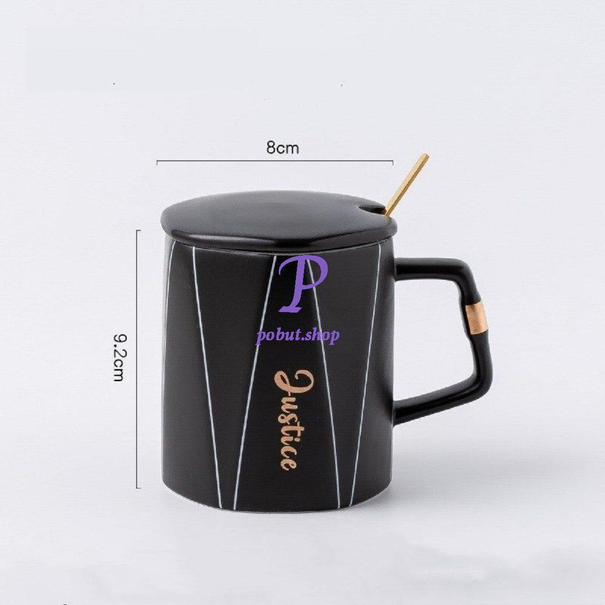Чашка керамічна Justice 350 мл, чорна