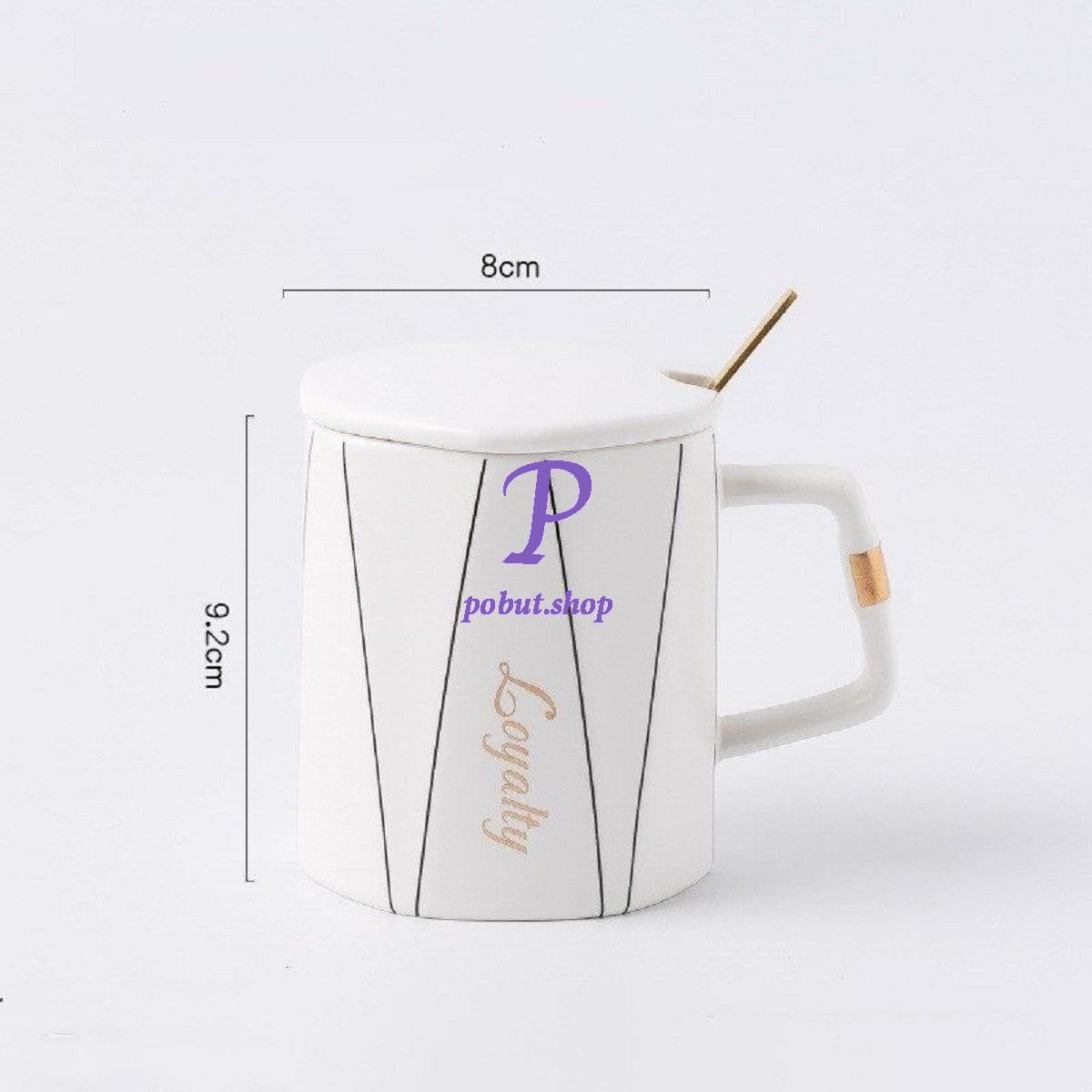 Чашка керамічна Loyalty 350мл, біла