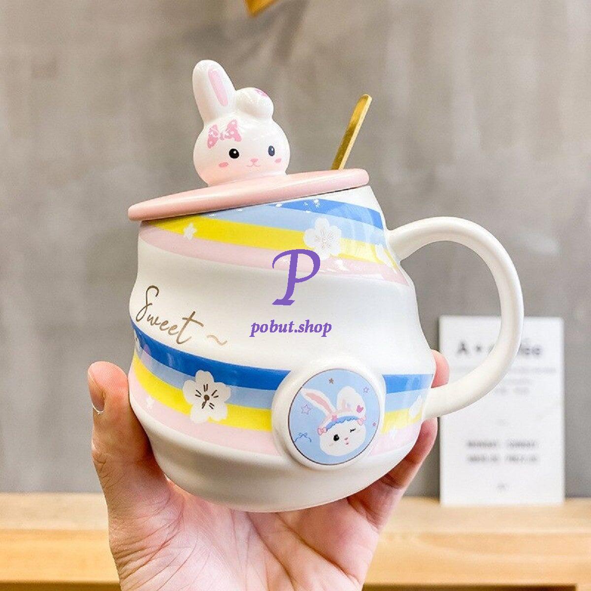 Чашка керамічна Райдужний Кролик 450 мл.