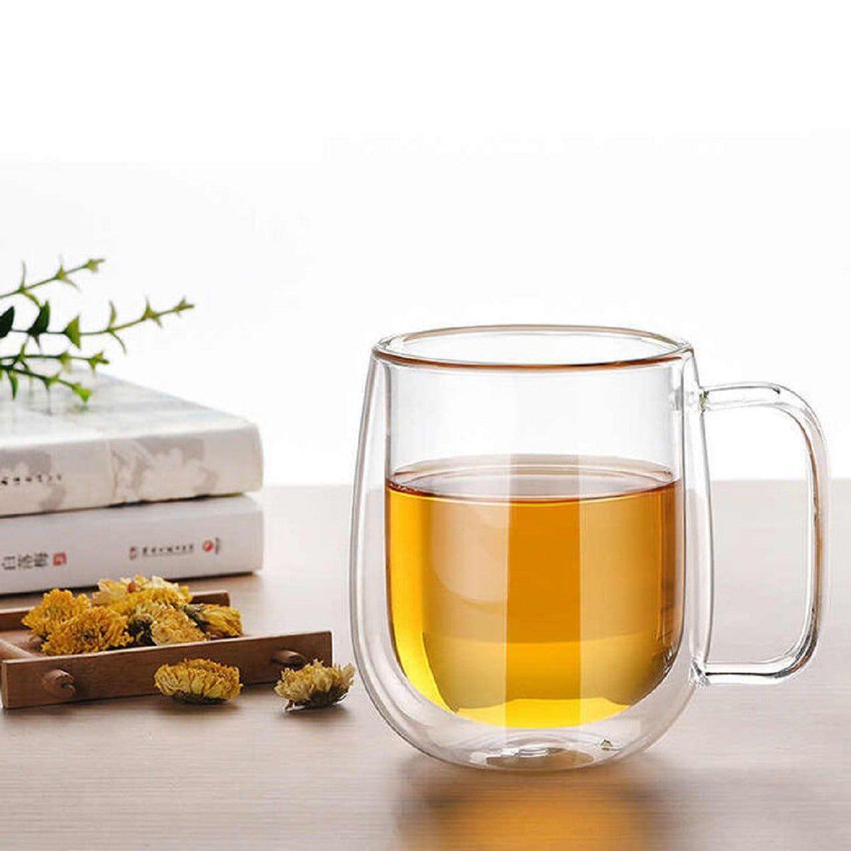 Чашка скляна з подвійним дном Прімула, 350 мл.