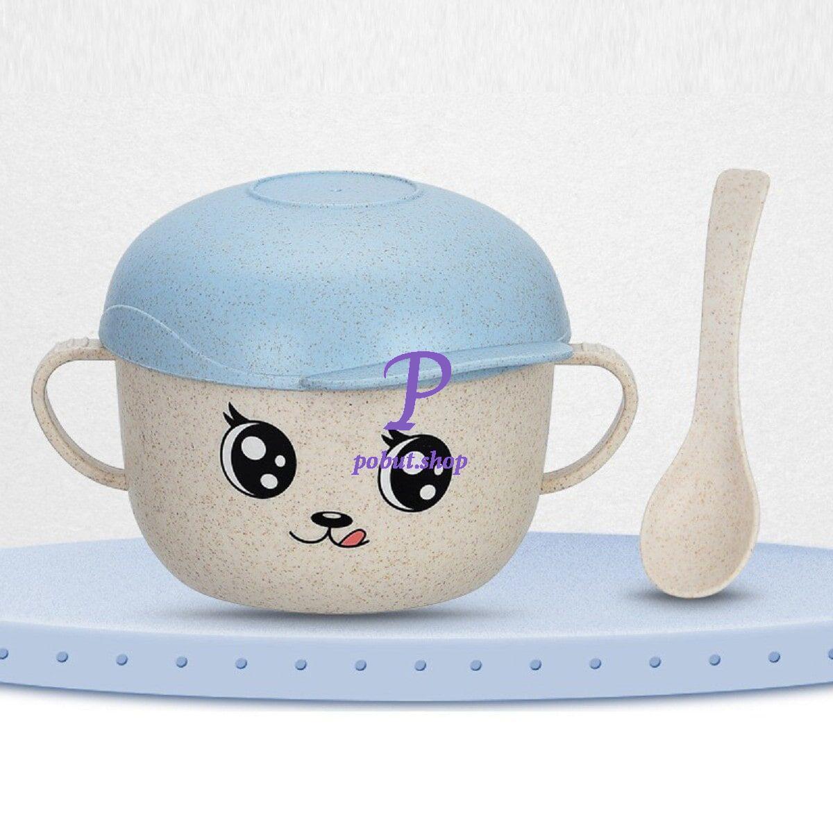 Дитяча еко чашка з кришкою 450 мл, блакитна