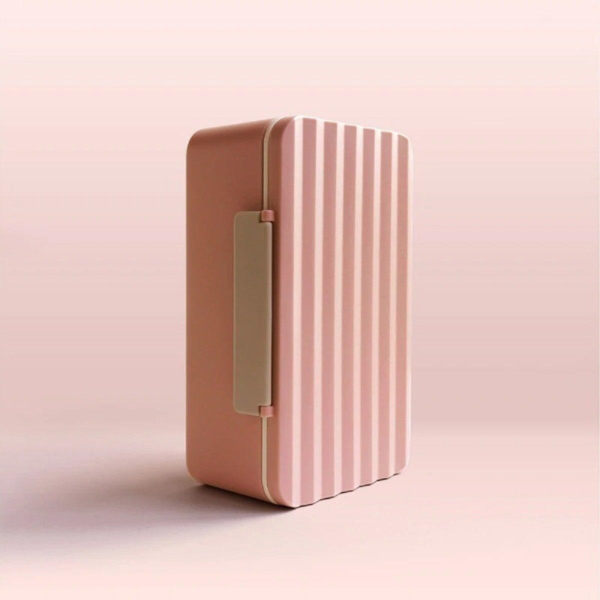 Ланч-бокс з паличками 900 мл, рожевий