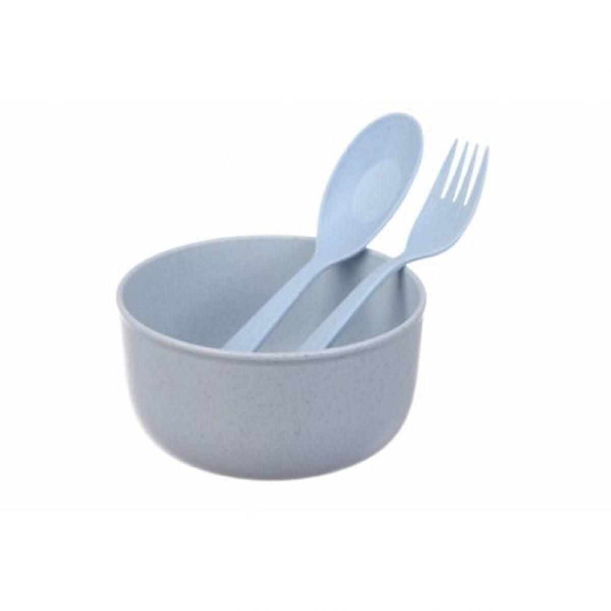 Набір еко посуду, блакитний