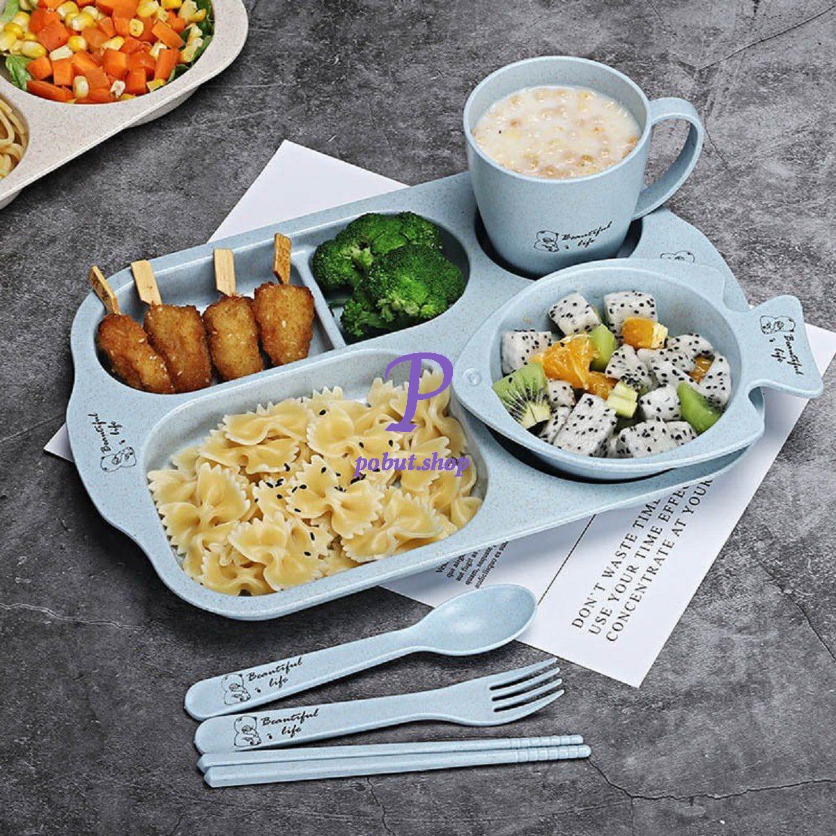 Набір еко-посуду з тарілкою-рибкой