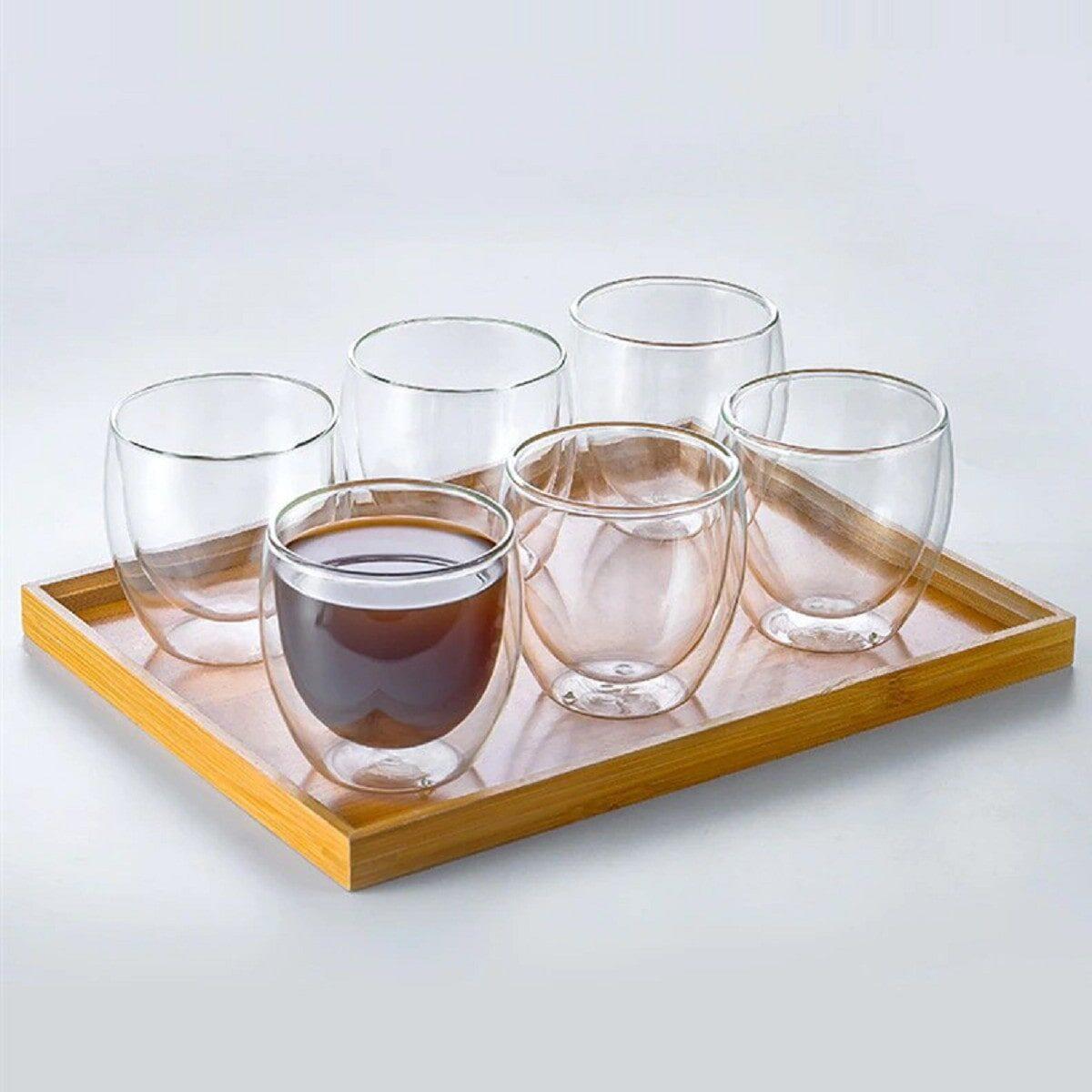 Набір скляних рюмок з подвійним дном