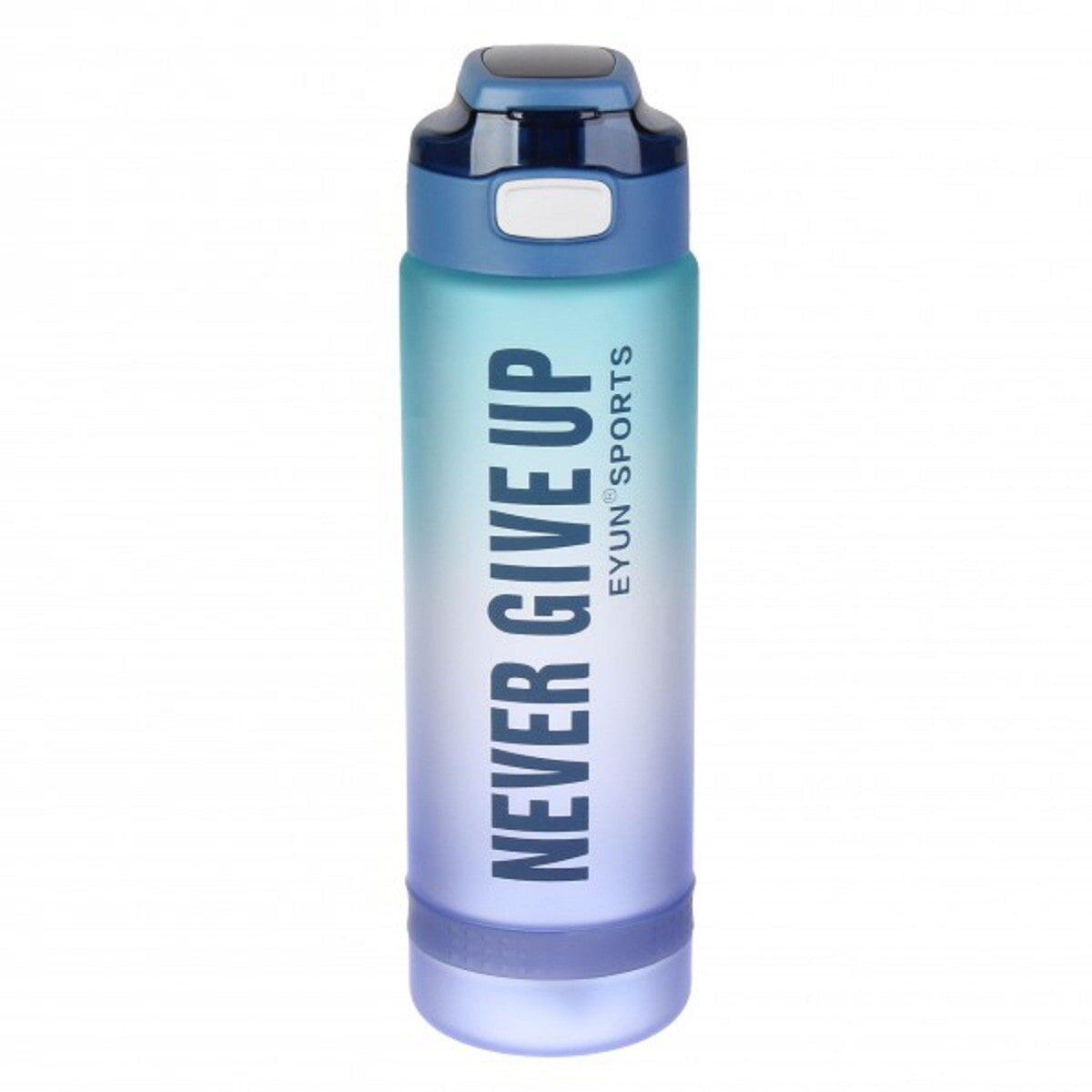 Пляшка для води Never Give Up 1 литр, градієнт синьо-фіолетова