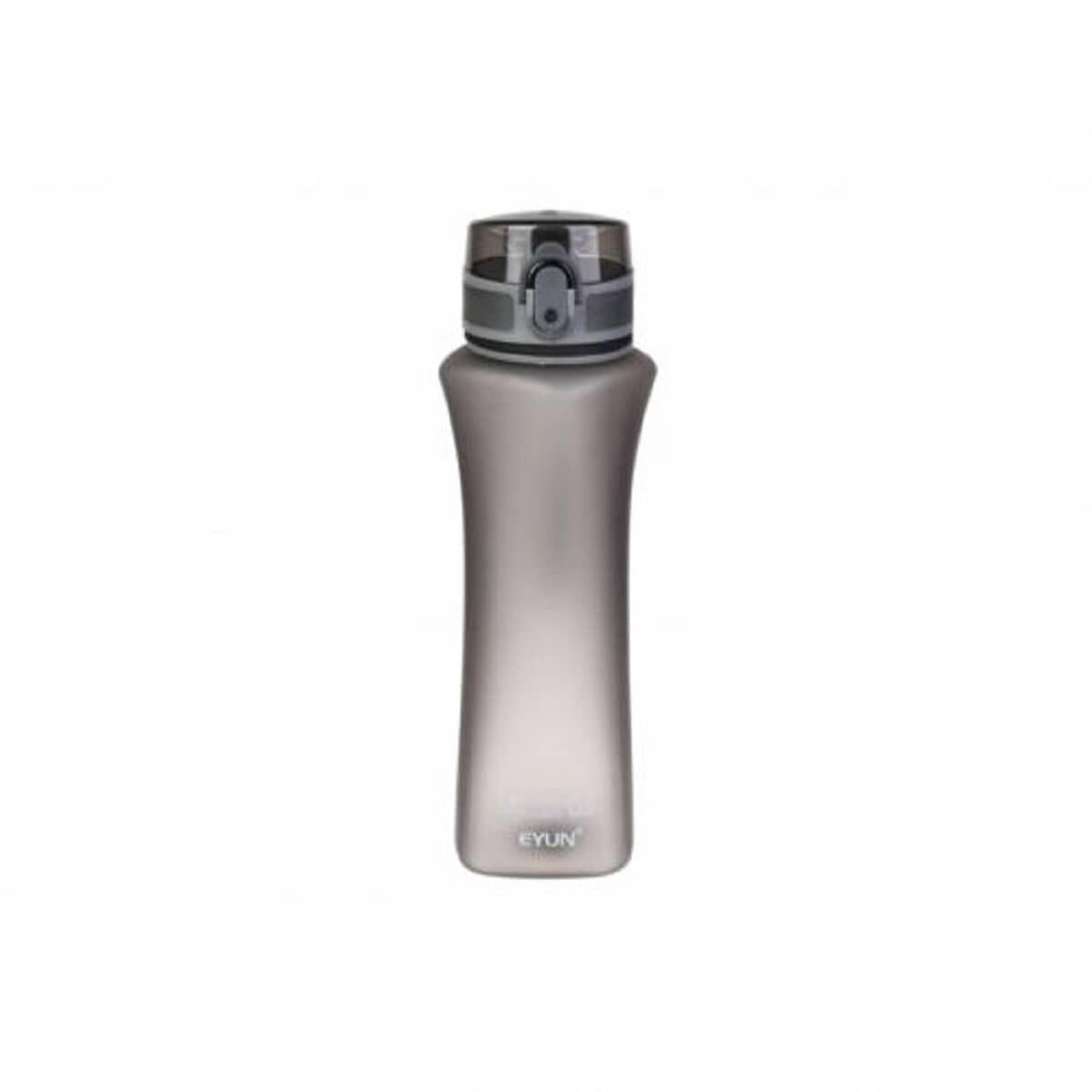 Пляшка для води пластикова 600 мл, сіра