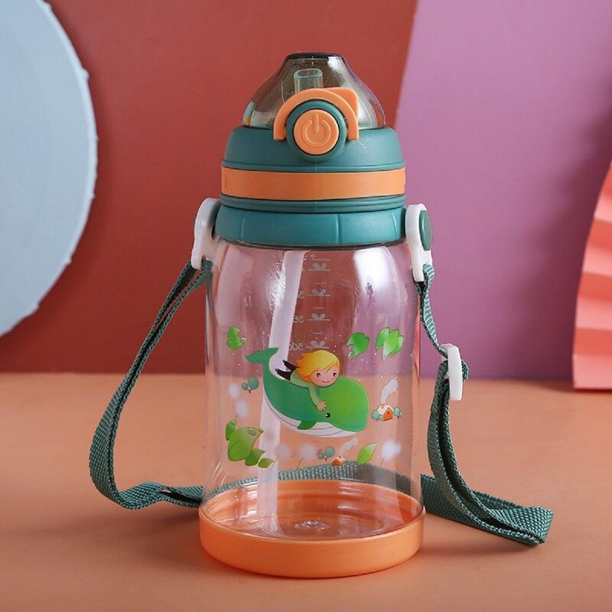 """Пляшка дитяча пластикова """"Кит"""" 550 мл, помаранчева"""