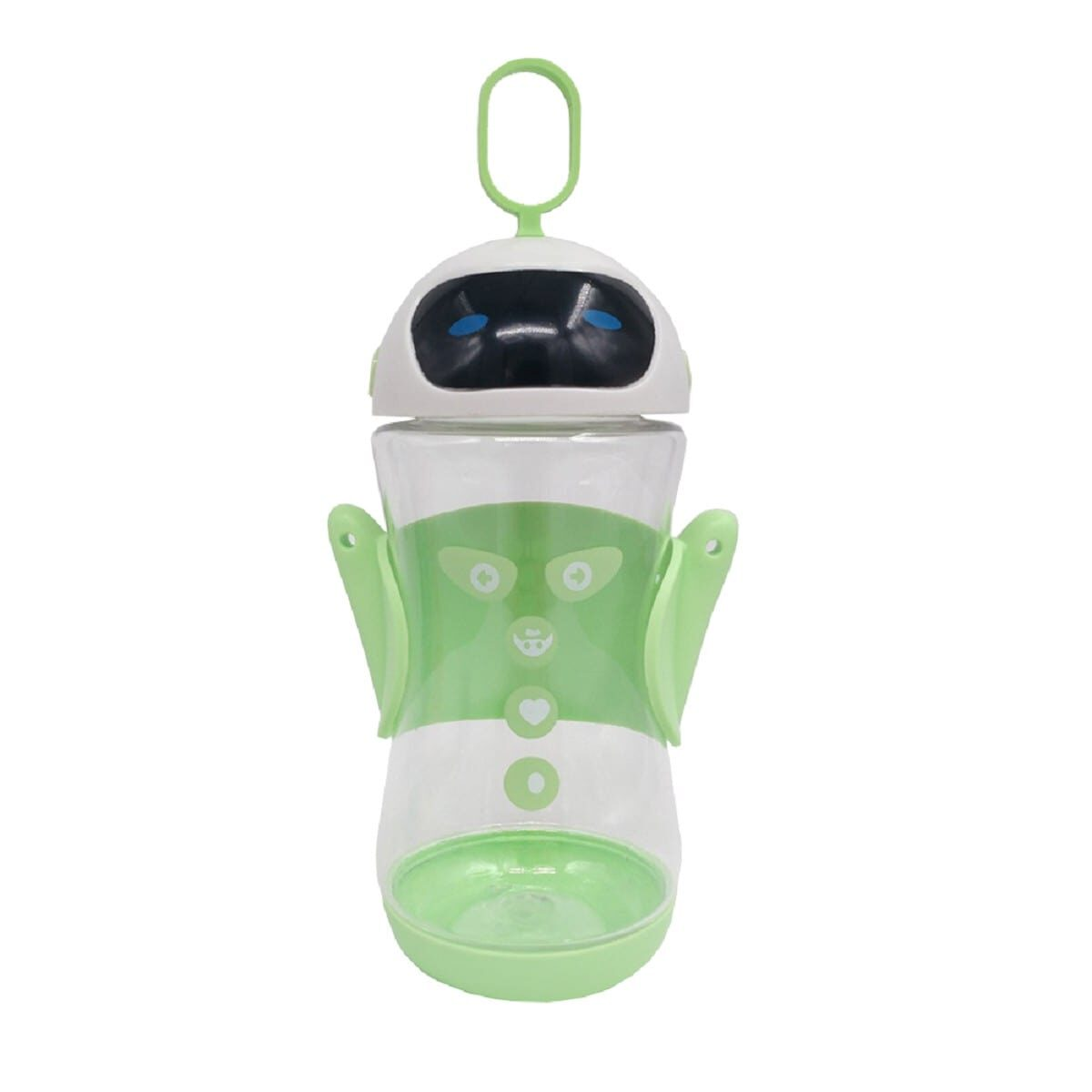 Пляшка дитяча пластикова Робот 450мл, зелена
