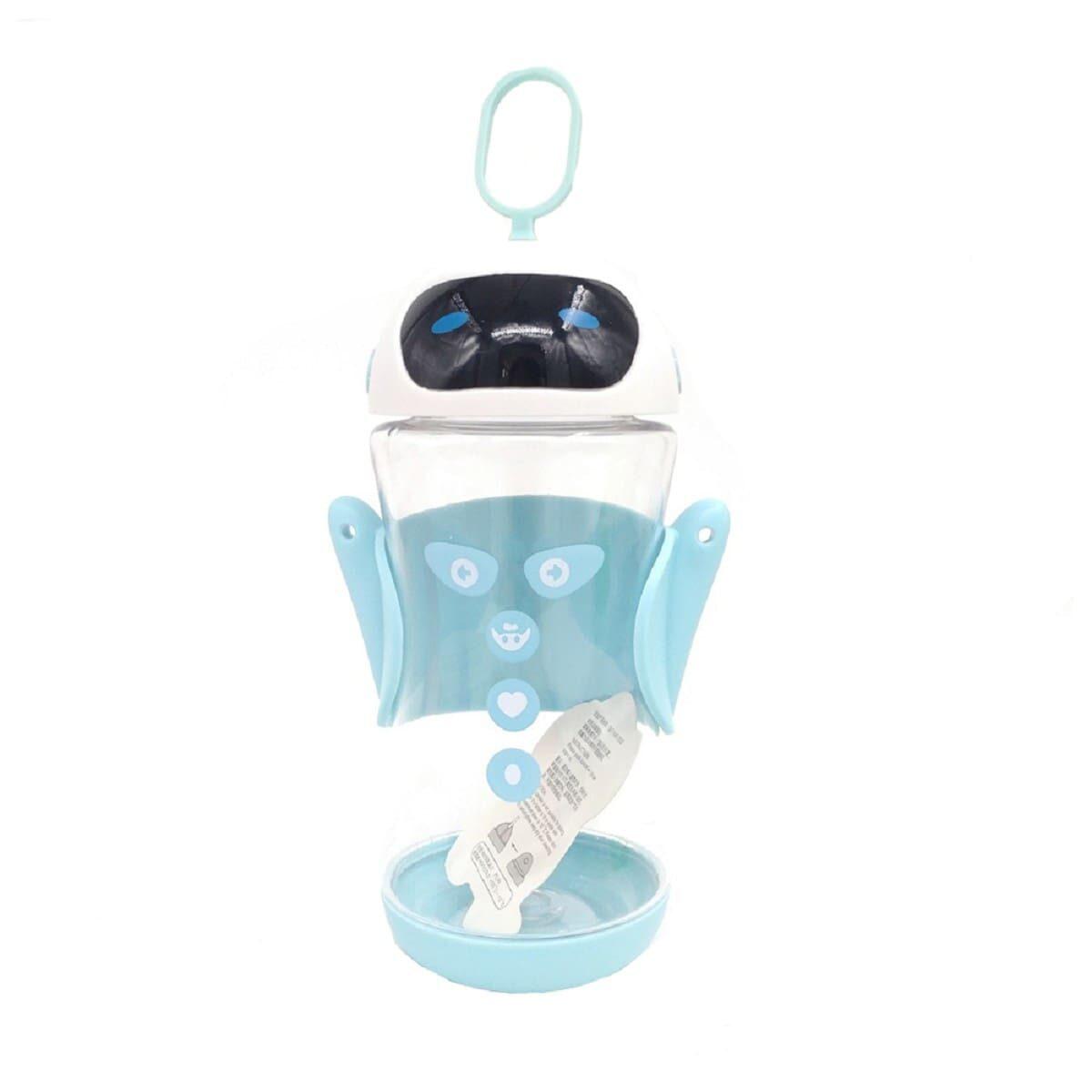 Пляшка дитяча пластикова Робот 450мл, блакитна