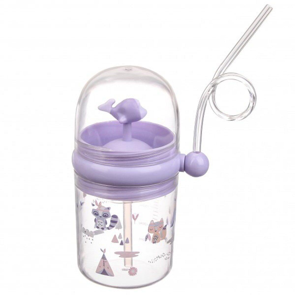 Пляшка дитяча пластикова з фонтанчиком 260мл