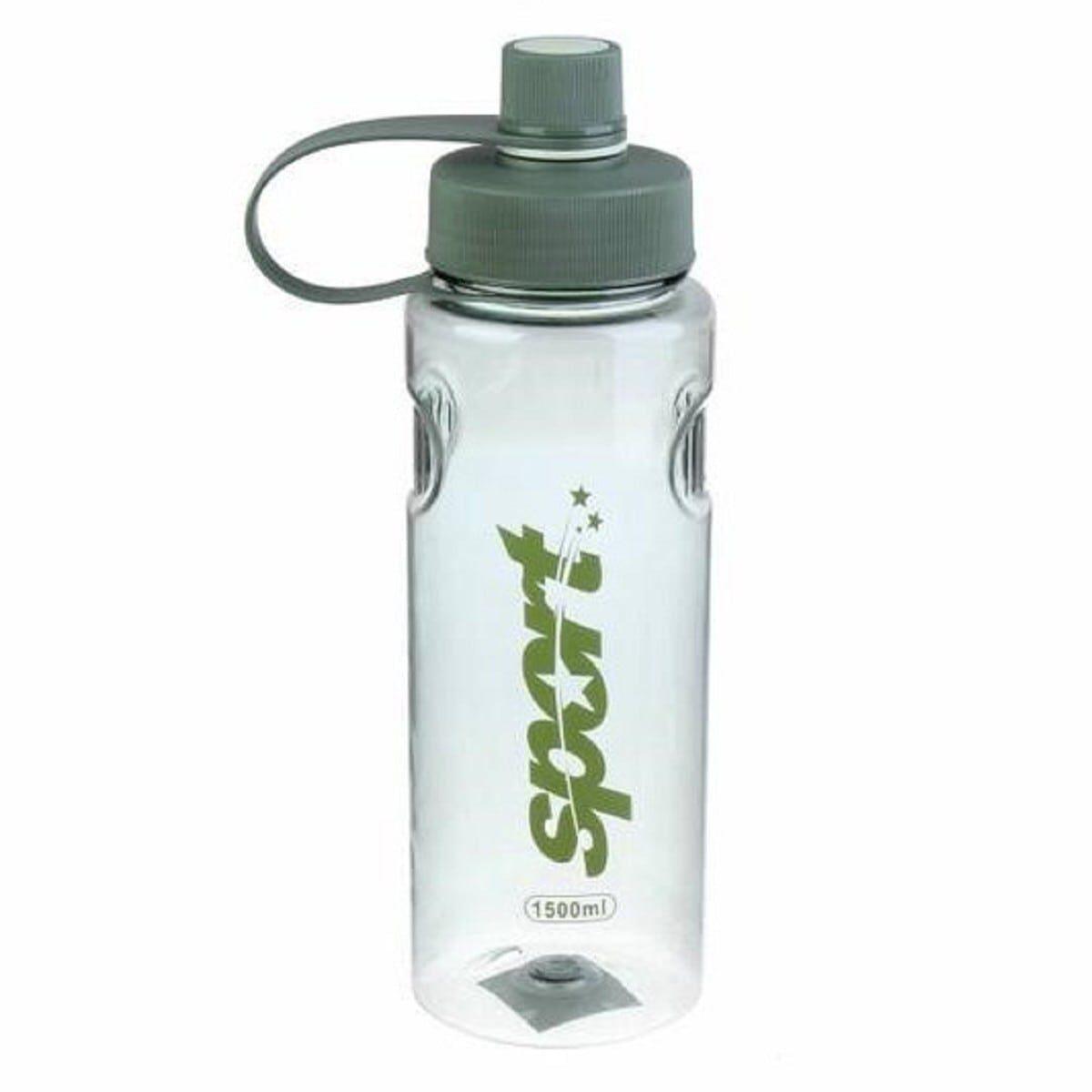 Пляшка спорт пластик 1500 мл, зелена