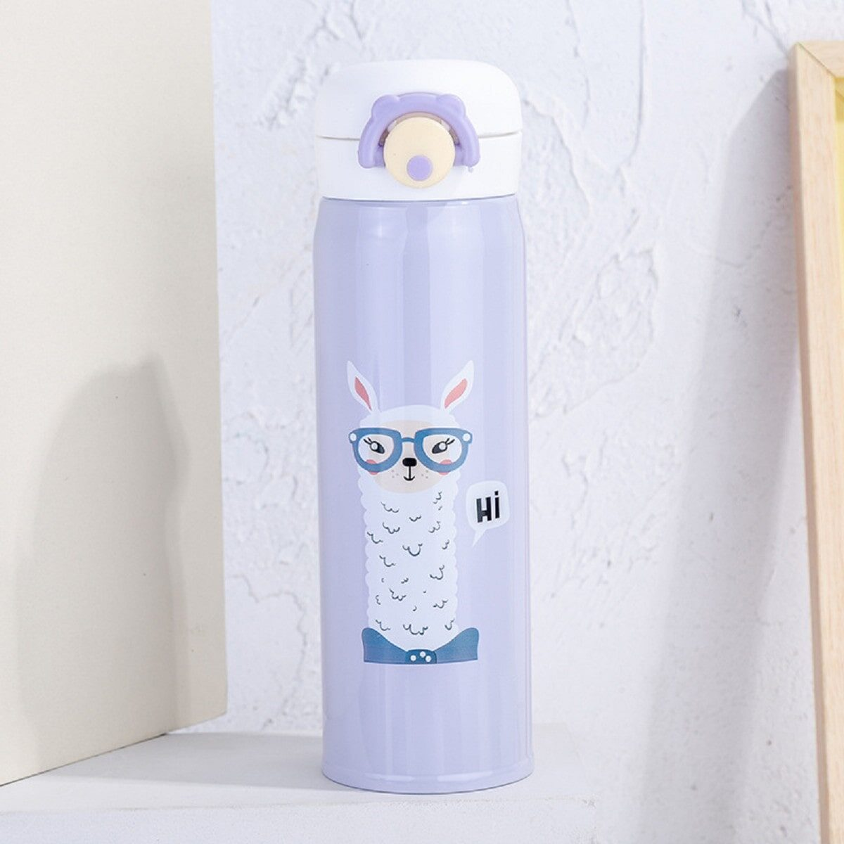 Термопляшка Лама 500мл, фіолетова