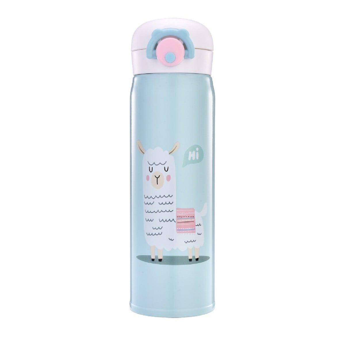 Термопляшка Лама 500мл, бірюзова