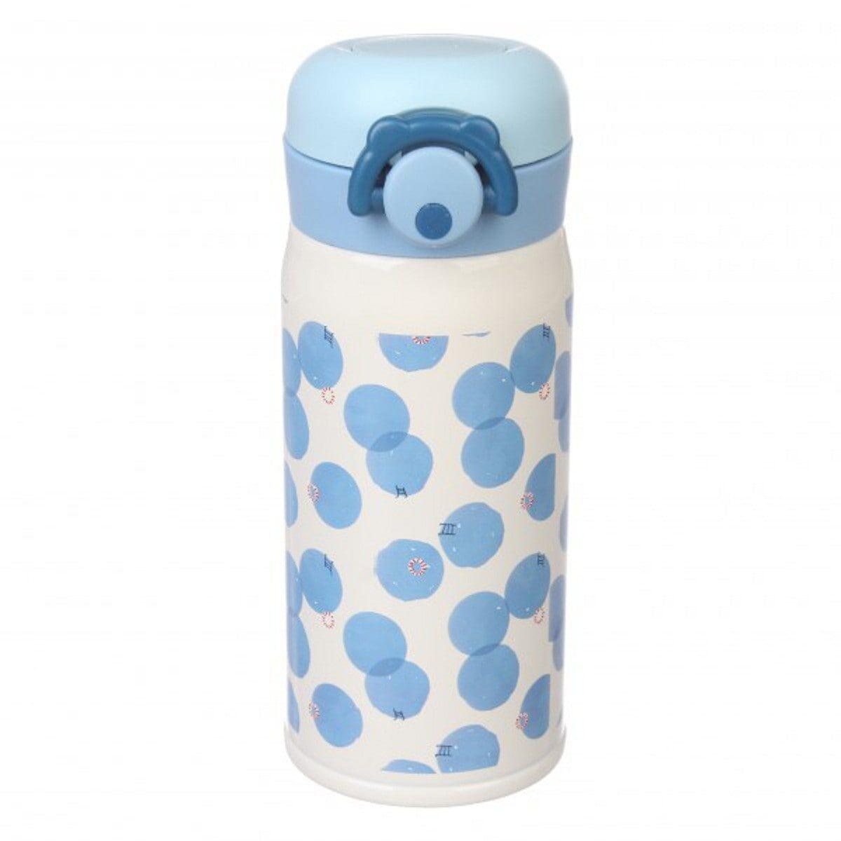Термос Чорниці 350 мл, біло-блакитний