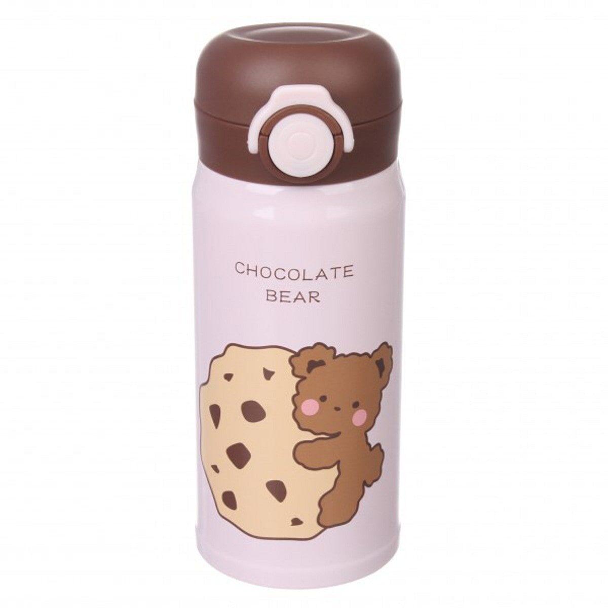 Термос Шоколадний ведмідь 350 мл, рожевий