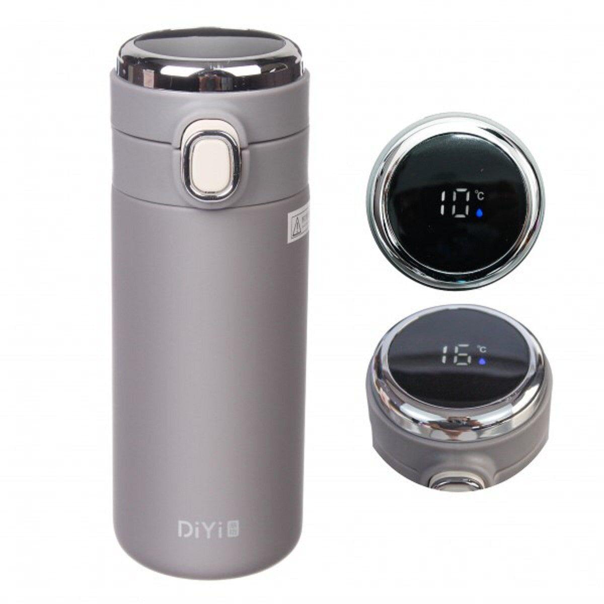 Термос з електронним термометром 320 мл, сірий